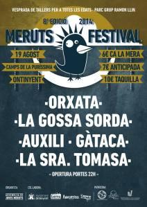19 de agost a Ontinyent  concerts de Orxata Sound Sistem, La Gossa Gorda, Auixili, Gàtaca i la Sra. Tomasa
